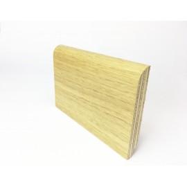Battiscopa impiallaciato vero legno 80 x 13 mm