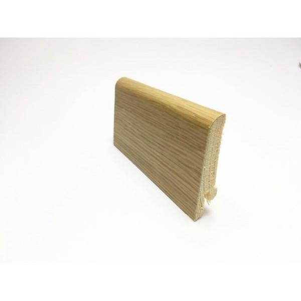 Battiscopa inclinato impiallaciato vero legno 60x15 mm