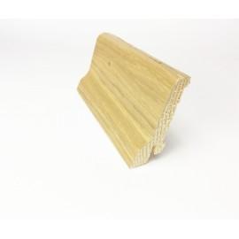 Battiscopa con piede impiallaciato vero legno 60x15 mm