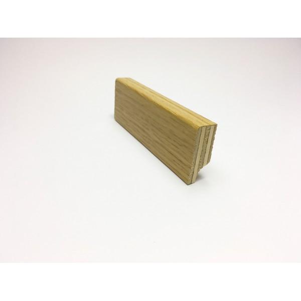 Battiscopa squadrato impiallaciato vero legno 40x15 mm