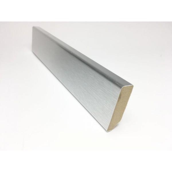 Battiscopa alluminio satinato 45X13 mm