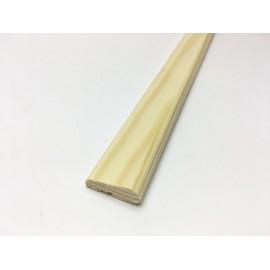 Fermavetro liscio in pino con battuta